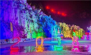 北京房山金水湖冰灯仿若仙境