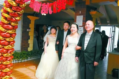 七夕金婚集体婚礼举办