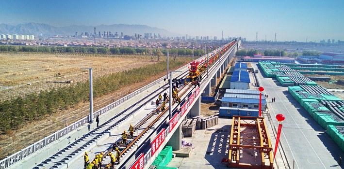 聯動2022冬奧會三賽區 京張高鐵開始鋪軌