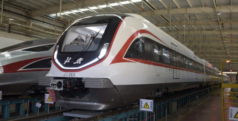 國內最快軌道列車亮相北京新機場線