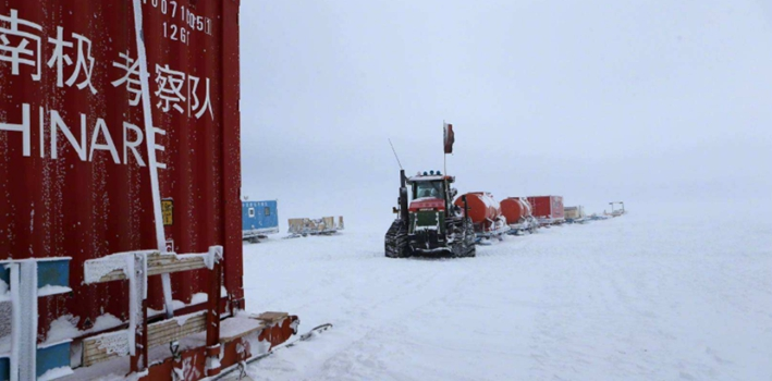 """第35次南極科考:""""雪龍""""號抵達南極中山站"""