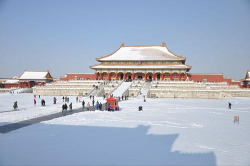 瑞雪兆豐年!北京下雪啦!