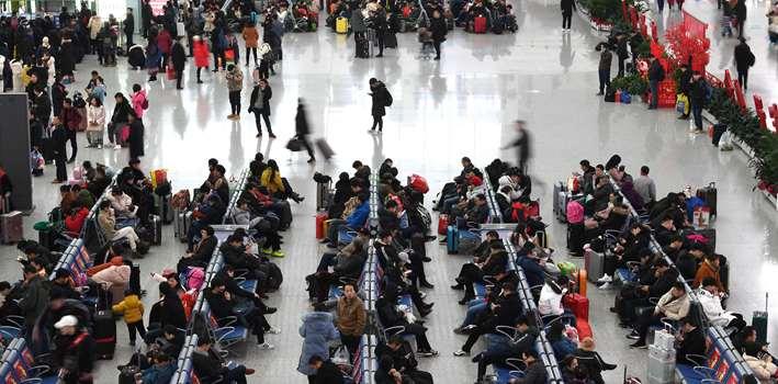 春運鐵路客流連續八天發送旅客超千萬人次