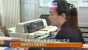 一季度中國累計新增減稅3411億元