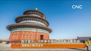 統計顯示:70年來中國經濟結構不斷升級