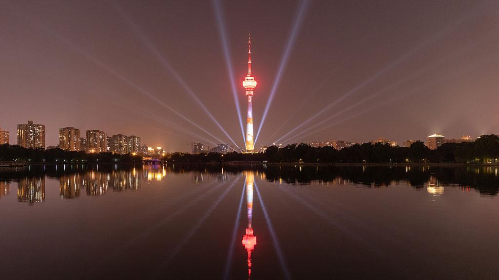 北京:夜景絢麗如畫 共譜盛世華章