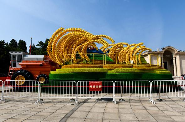 國慶彩車亮相北京展覽館