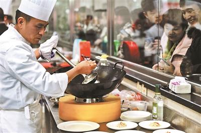 中式烹調師上灶比廚藝