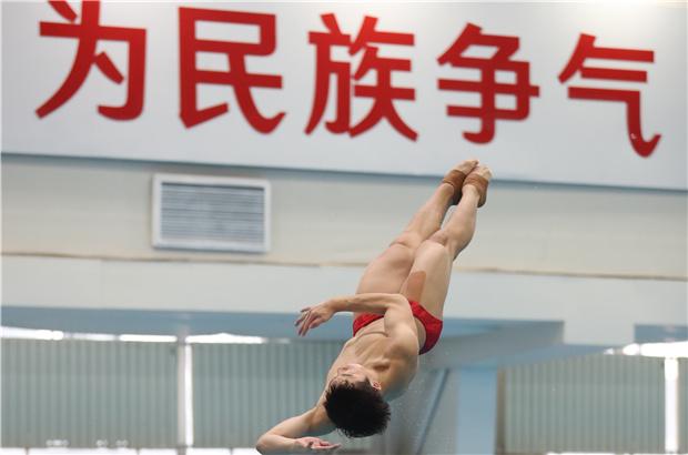 國家跳水隊舉行隊內測試