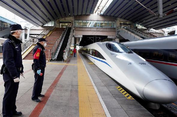 """北京︰鐵路公安""""防疫""""忙"""