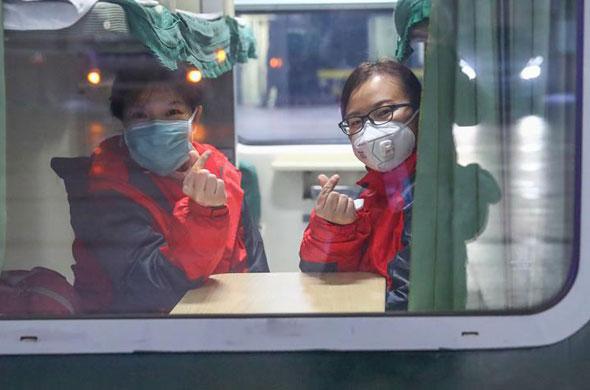 北京大學國際醫院支援湖北抗疫國家醫療隊出徵