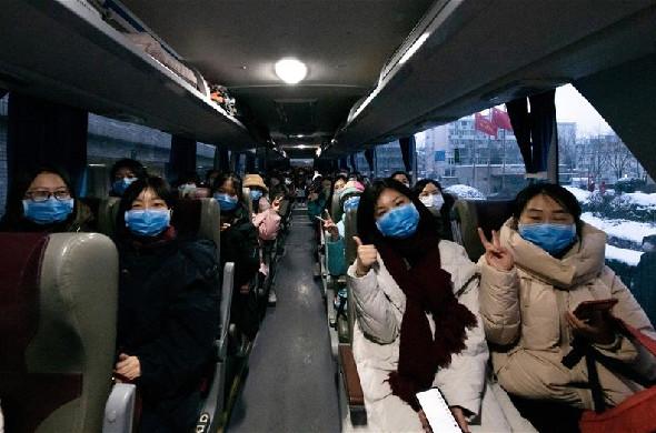 北京大學第一醫院第三批抗疫醫療隊隊員趕赴湖北