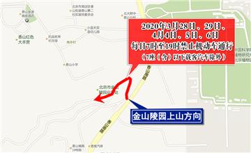 首個祭掃高峰日 北京市公墓陵園交通暢通