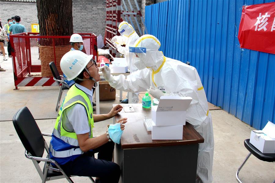 北京:項目工地開展核酸檢測