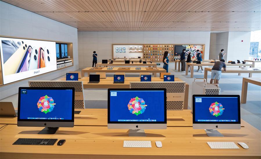 蘋果零售店北京全新亮相