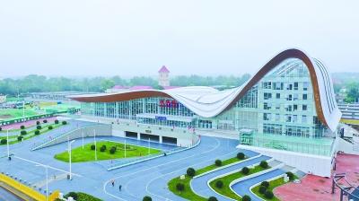 京張高鐵延慶換乘中心建成