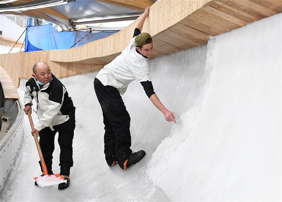 走近國家雪車雪橇中心的制冰師