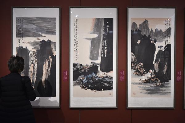 """""""淋漓華章——孫博文藝術展""""在京開幕"""
