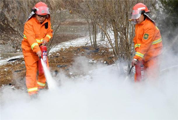 北京2022年冬奧會延慶賽區開展冬季綜合消防演練
