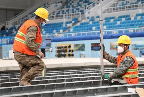 """""""水立方""""成為北京冬奧會首個完工的改造場館"""