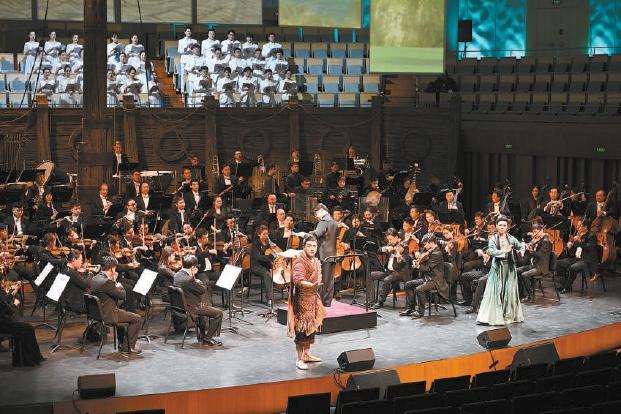 京劇交響套曲《京城大運河》在國家大劇院首演